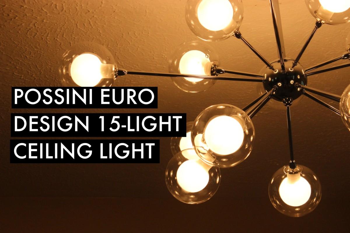 Possini Euro Design 15 Light Glass Balls Ceiling Light Install
